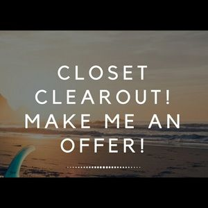 Closet Clear Out Time!